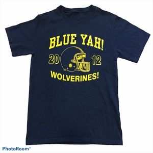U of M University Michigan 2012 Blue Yah! Tee Med